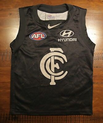 Official CARLTON BLUES NIKE AFL Signed Footy Guernsey Kids Size XS