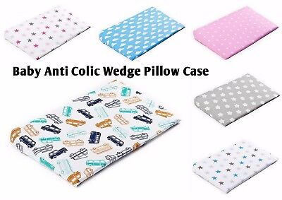 Baby Pillow Case for Anticolic Cushion Wedge,Replacement Cover 2 sizes, Cot Klin