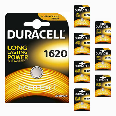 8 x Duracell CR1620 DL1620 ECR1620 Lithium 3v Batteries Coin Cell Use By 2026