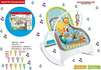 Baby Forest Infant-to-Toddler Rocker Musical Viberation Bouncing Chair Free Gift