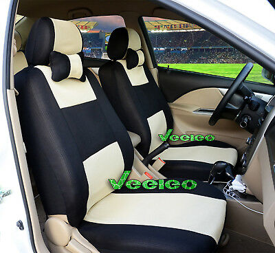 (Front +Back) 7 Colors Car Seat Covers for Toyota 5 seats +5 PCS headrest cover