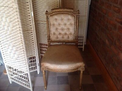 OLD GILT COLOURED CHAIR - French looking  for Refurbishment  very elegant