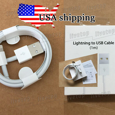 OEM Lightning USB Cable For iPhone 8 7 7s 6s 5 Plus 3FT Data Sync Charger Cable