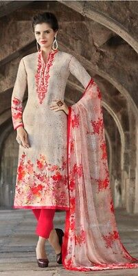 Bollywood  Indian Designer Party Wear Straight Embroidery Work Suit SE US 006