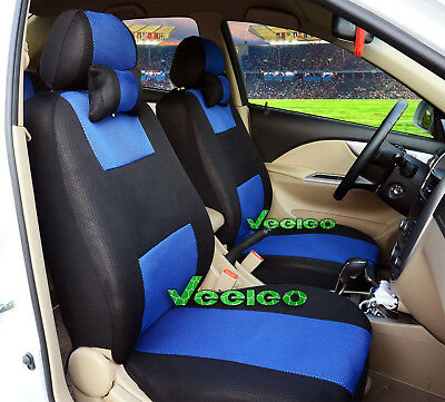 (Front +Back) 7 Colors Car Seat Covers for Honda 5 seats +5 PCS Headrest Cover