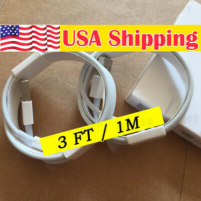 iPhone 7 Plus 6s 8 charger cable cord OEM for apple lightning USB Charger Cable