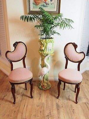 Pair Vintage French Rococo Style Parlour/hall/bedroom Chairs