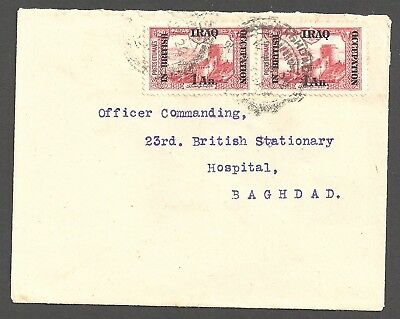 IRAQ 1922 (12 Aug) Typed cover  - 97677