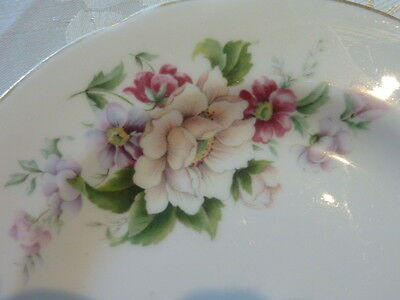Springfield England Bone China Side Plate Floral Very Pretty Replacement