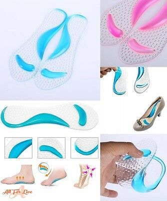 Women Silicone Gel Shoes Insole Sandals High Heel Grip Back Liner Foot Care