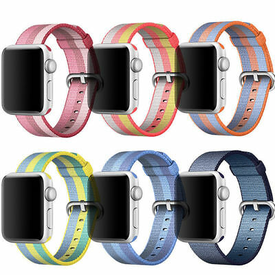 Apple Watch Series 3 2 1 Band Replacement Nylon Sport Soft Bracelet Strap