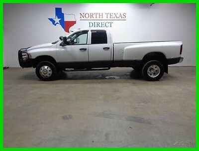 2003 Dodge Ram 3500 SLT 4WD 6 Speed 5.9 Cummins Diesel Leather Texas 2003 SLT 4WD 6 Speed 5.9 Cummins Diesel Leather Texas Used Turbo 5.9L I6 24V