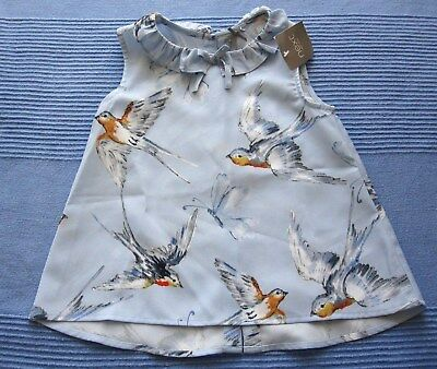 NEXT Girls Top Blouse Swallows / Swifts 2-3 years BNWT