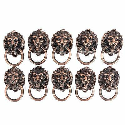 30pc Dresser Drawer Cabinet Door Ring Lion Head Pull Handle Knob use for antique