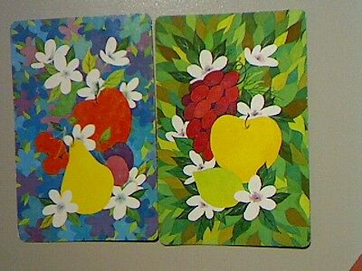 (2) Swap/Playing Cards - Pair Fruit and Blossom*