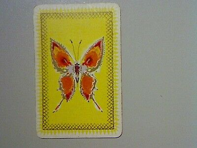 1 Single Swap/Playing Card - Butterfly Yellow Background*