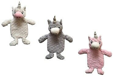 Kids Childrens Winter Warm Unicorn Style Cosy Soft Furry Hot Water Bottle