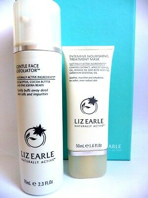 LIZ EARLE Skincare Gift Set*Gentle Face Exfoliator*Intensive Nourishing Mask