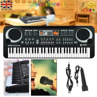 Digital Electronic Black & White Keyboard 61 Keys Toy Electric Piano Great Gift