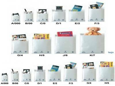 Mail Lite / Lites Padded Bags Envelopes 'all Sizes' +24H Courier - White & Gold