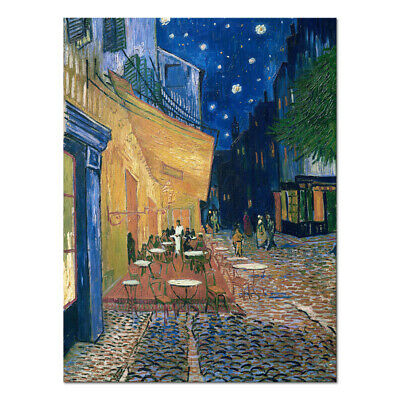 Canvas Print Van Gogh Painting Repro Cafe Terrace Wall Art Home Decor Framed