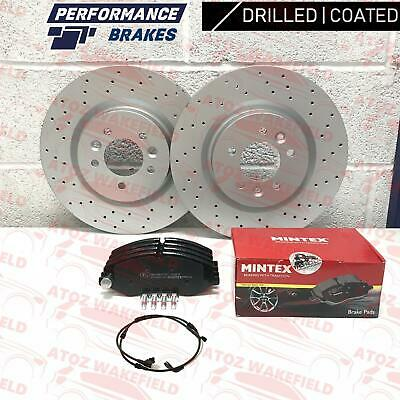 FOR RANGE ROVER SPORT 3.6 TDV8 FRONT DRILLED BRAKE DISCS MINTEX PADS SET 360mm