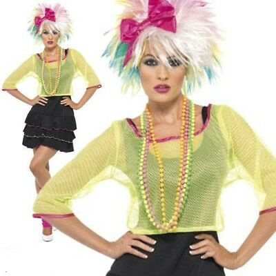 Ladies 1980s Pop Tart dressing up costume adult outfit rave Neon style 80s