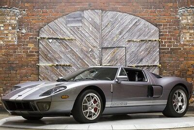 2006 Ford Ford GT Base Coupe 2-Door 06 Red Brake Calipers Painted Stripes Lightweight Forged Aluminum Wheels GT40