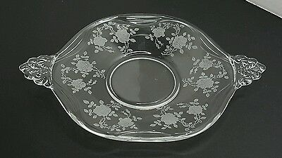 FOSTORIA  WILLOWMERE LiINER / UNDER PLATE ETCHED CRYSTAL