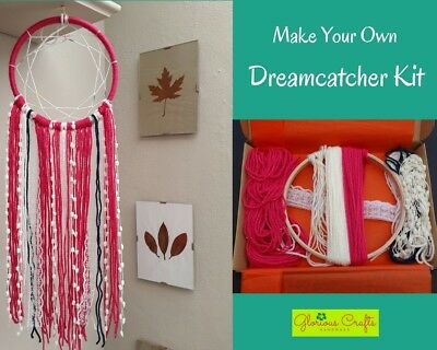 Make Your Own Dreamcatcher Kit, Crimson, Boho, Craft, Birthday, Christmas, Gift