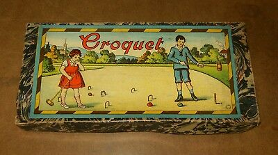 Ancien jeu CROQUET de table / vintage toy TABLE CROQUET - MADE IN GERMANY