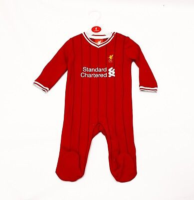 Liverpool FC Official Football kit Standard chartered baby gift Sleepsuit LFC700