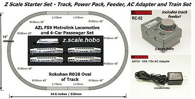 Starter Set Z Scale Power Pack Metrolink Train Set Track Rokuhan AZL *NEW $0SHIP