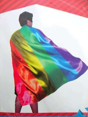 New 140cm Rainbow Cape  Gay Lesbian Pride Support LGBT  Party Rainbow Décor