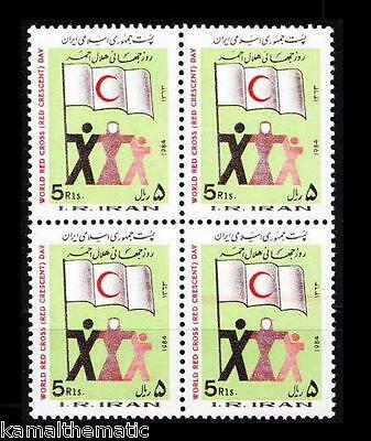 1984 MNH Blk 4, Red Cross, Red Crecent, Flag