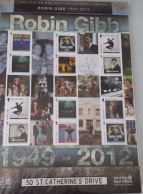 Isle of Man stamps 2013 Robin Gibb commemoration MS1830