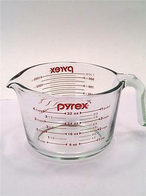 Pyrex Red Letter & Number 4 Cup Measuring Cup