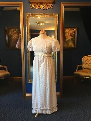 Beautiful Regency Theatrical Style Day Dress With Sash Detail, Great Size!!!