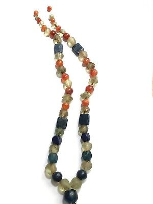 Beautiful ancient beads (carnelian, stone, glass, rhinestone)