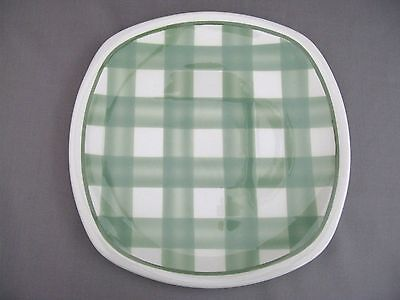 T G Green Patio green Gingham - a large dinner plate - 9.3 inches (1)