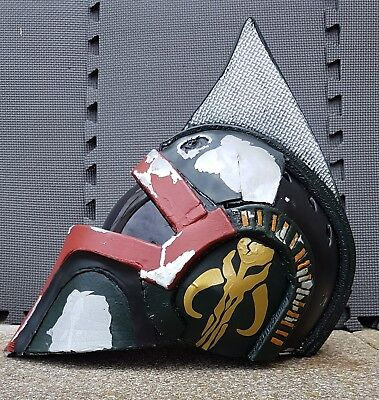 Boba Fett mash-up punk X-wing pilots helmet. Cosplay or display.