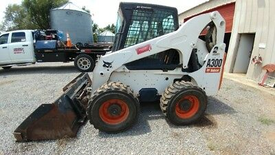 08 Bobcat A300 A 300 2 Speed Cab A/c All Wheel Steer Hyd Quick Attch skid steer
