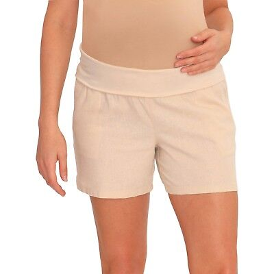GREAT EXPECTATIONS Maternity 5 IN Linen Blend Shorts(3 Diff Colors), NWT