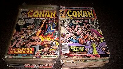 MARVEL CONAN THE BARBARIAN 79 issue lot vintage g-nm key red Sonja