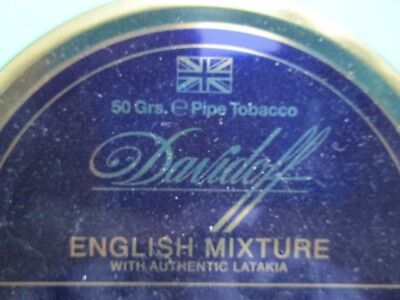 RARE:DAVIDOFF ENGLISH MIXTURE Pipe Tobacco Tin  Holds 50 Grams Sealed