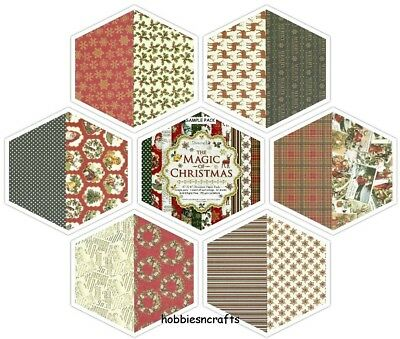 Dovecraft The Magic Of Christmas 6 X 6 Sample Pack  - 12 Sheets