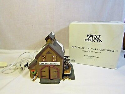 "Department 56 New England Village Series ""Pierce Boat Works"" - 56573"