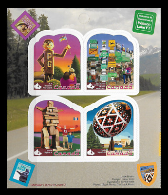Canada Stamps - Booklet Pane of 8 - Roadside Attractions #2336 x 2 (BK408) - MNH