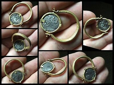 Rare Superb Ancient Greek Gold Swivel Coin Ring C3rd/4th Cent BC.