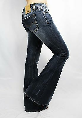 Women's Jeans bootcut pants Italian faded Designer Distressed 331 size US 4 6 8